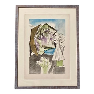 Pablo Picasso Weeping Woman Vintage Lithograph With Pochoir For Sale
