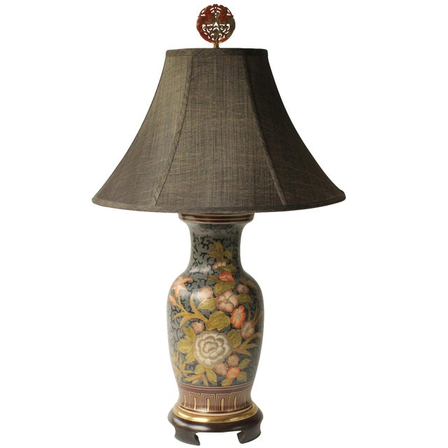 Frederick Cooper Floral Vase Table Lamp For Sale