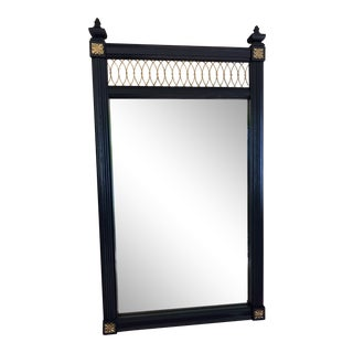 Traditional Navy and Gold Mirror
