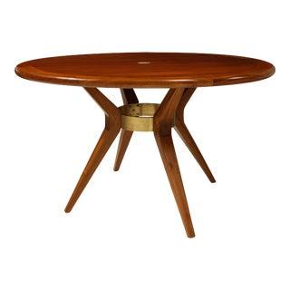 Italian Mid-Century Modern Circular Dining Table/ Center Table For Sale