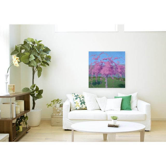 """Titled """"Weeping Cherry"""". Painted in the studio in the middle of winter while thinking of an early, sunny spring morning..."""