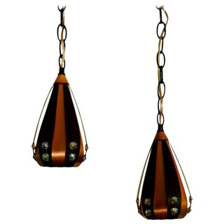 Pair of Modernist Pendants by Werner Schou For Sale