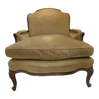 Vintage French Bergere Armed Chair For Sale