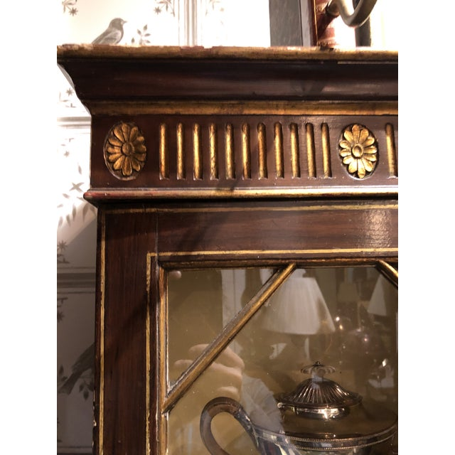 Wood 19th Century George III Painted Gilt Breakfast Bookcase For Sale - Image 7 of 9