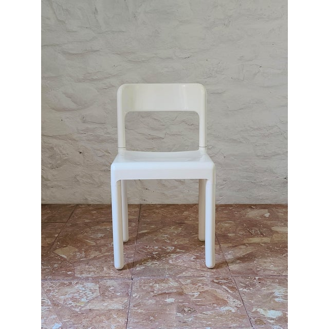 Beautiful vintage Italian design dining room chair. The chair was designed by C. Hauner, who has also made designs for the...