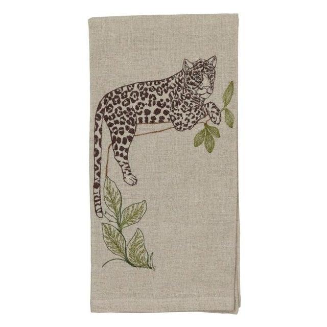 2010s Jaguar Perch Tea Towel For Sale - Image 5 of 5