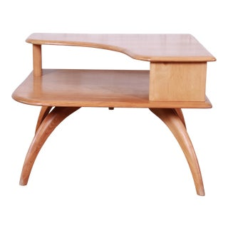 Heywood Wakefield Mid-Century Modern Solid Maple Corner End Table, 1950s For Sale