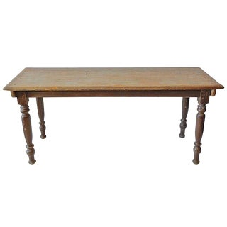 19th Century French Country Pinewood Picnic or Console Table. For Sale