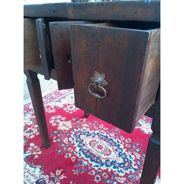 17th Century Spanish Walnut Campaign or Tavern Table For Sale - Image 9 of 11