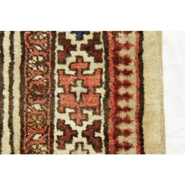 Textile Antique Persian Sarab Rug With Incredibly Detailed Tribal Design - 3′9″ × 15′4″ For Sale - Image 7 of 11