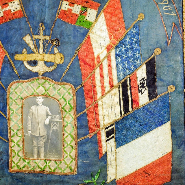 Portraiture Antique Embroidery Of The Boxer Rebellion In China 1900/01 For Sale - Image 3 of 6