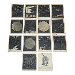 Antique 19th Century Astronomical Lithographs-Celestial Maps/Charts-Set of 14 For Sale