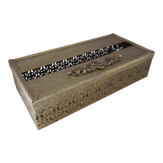 Hollywood Regency Tissue Holder With Flowers For Sale