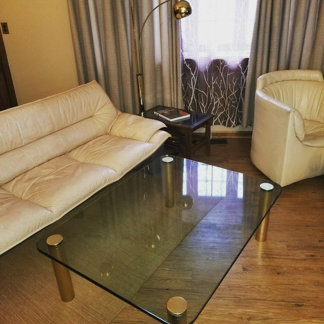 Brass and Glass Coffee Table by the Pace Collection Leon Rosen For Sale - Image 12 of 13