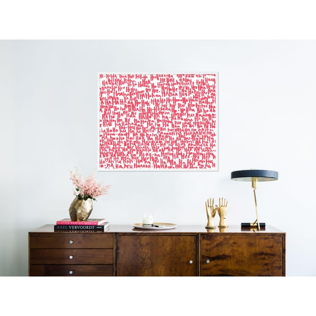 Contemporary Haha Pink Two by Kate Roebuck in White Framed Paper, Medium Art Print For Sale - Image 3 of 4