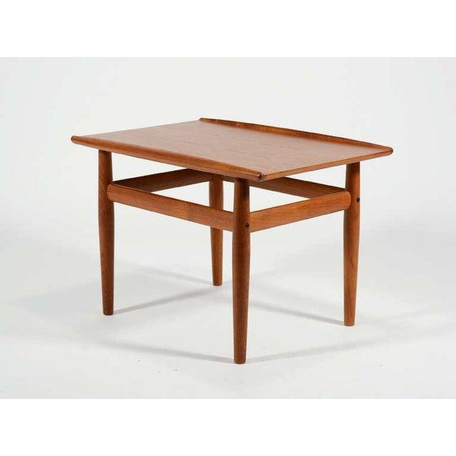 Danish Modern Teak Side/ End Table by Greta Jalk For Sale - Image 3 of 8