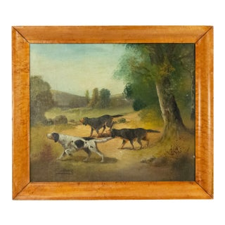 English Victorian Country Dog Hunting Painting For Sale