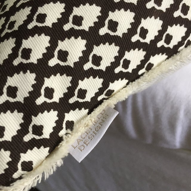 Chocolate Lacefield Designs Pillows- A Pair - Image 4 of 6