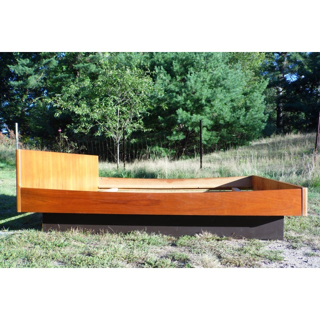 Danish Modern Teak King Platform Bed - Image 4 of 11