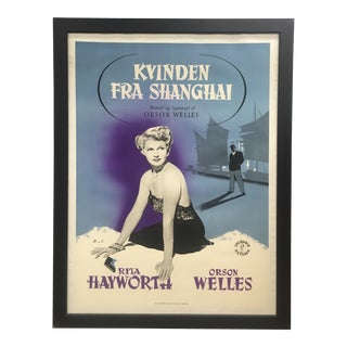 "1947 Original Danish ""The Lady From Shanghai"" Film Poster For Sale"