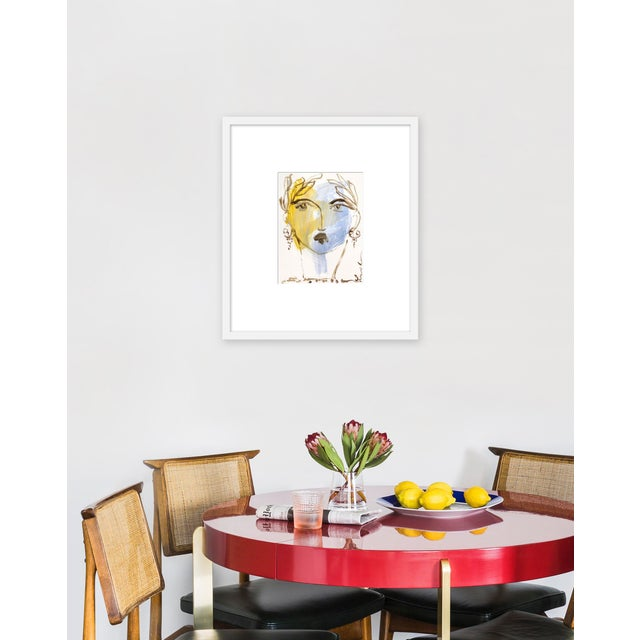 Giclée on textured fine art paper with white frame. Unframed print dimensions: 9.25 x 12.25. Leslie Weaver is a mixed...