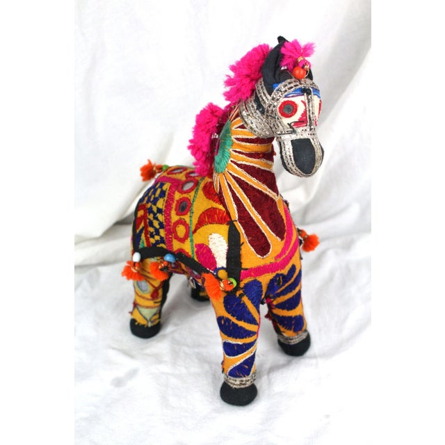1950s Boho Chic Pink Accent Rajasthani Horse For Sale In New York - Image 6 of 6
