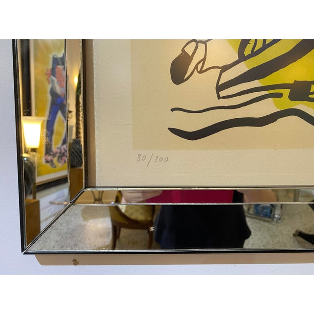 """Abstract Mid-Century Modern Leger Style Lithograph """"Partie De Campagne"""" (Country Party) For Sale - Image 3 of 9"""