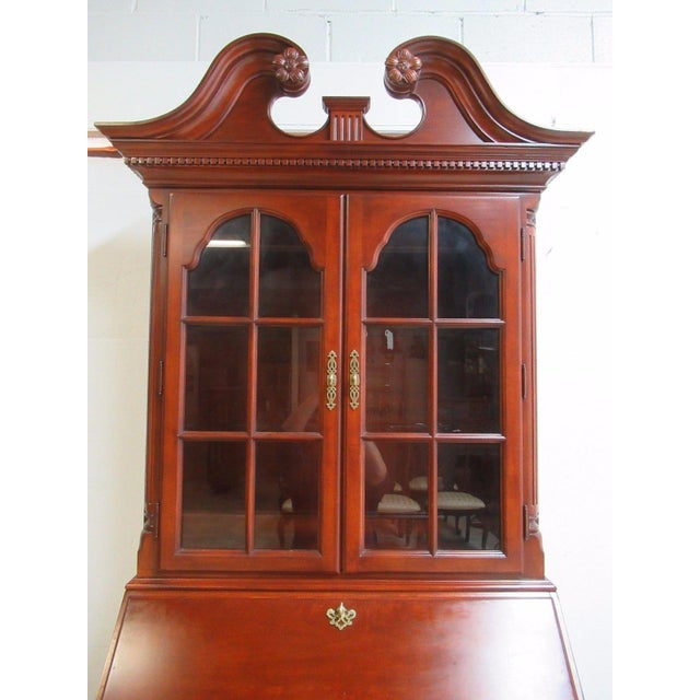 Thomasville Bombay Cherry Drop Front Secretary Writing Desk For Sale In Philadelphia - Image 6 of 10