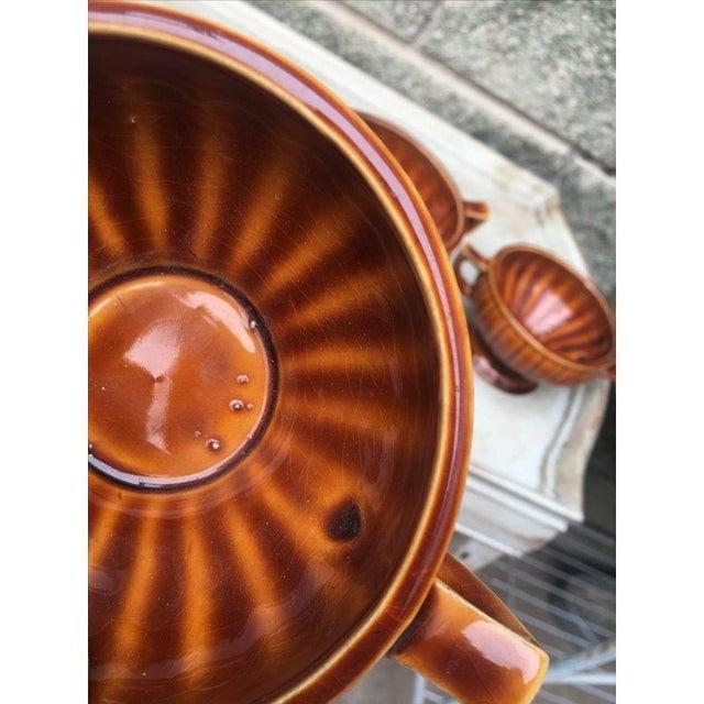 Vintage Amber Pedestal Bowls - Set of 4 - Image 5 of 8