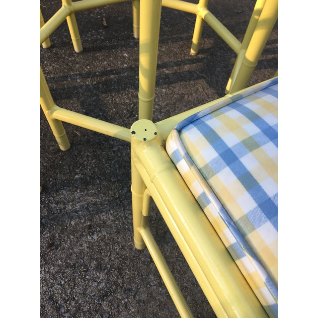 1970s 1970s Chippendale Meadowcraft Faux Bamboo Dining Set - 5 Piece Set For Sale - Image 5 of 8