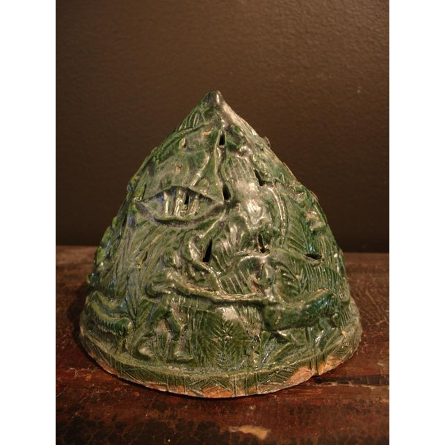A Han Dynasty Green Glazed Boshanlu Censer For Sale - Image 4 of 7