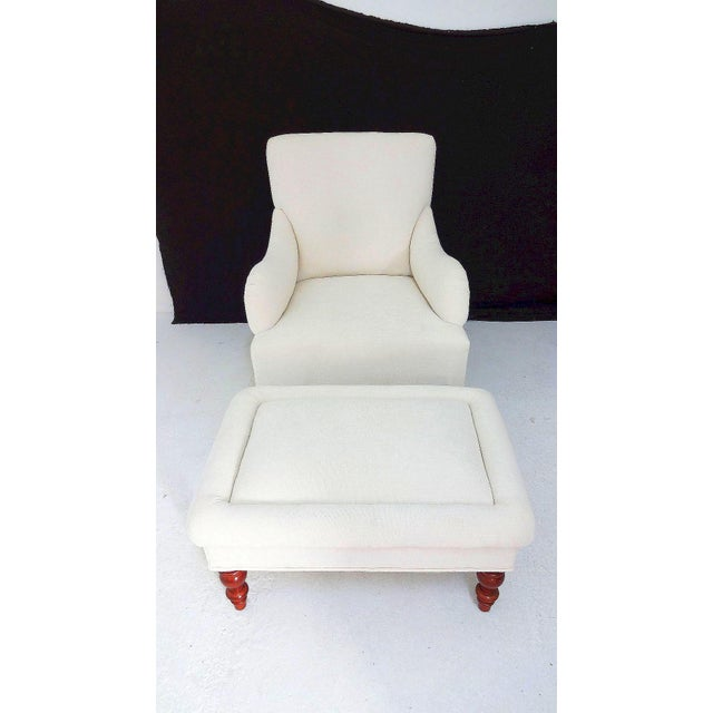 Vintage Club Chair & Ottoman - A Pair - Image 2 of 8