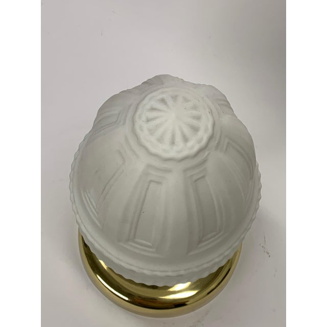 American Classical Restored Polished Flush Mount Ceiling Light For Sale - Image 3 of 4