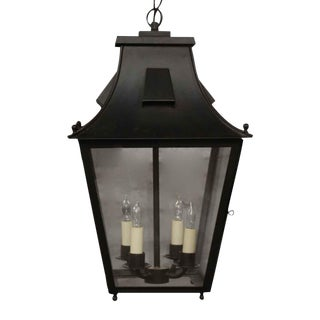 Late 20th Century Exterior Colonial Style Hanging Lantern For Sale