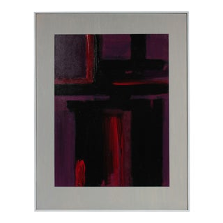 """Afterglow"" Expressionist Abstract in Oil, Late 20th Century"