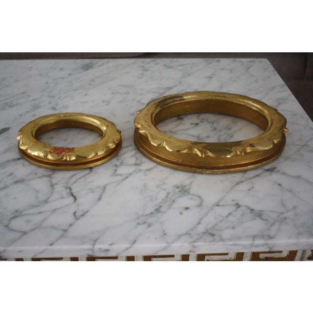Pair of Gilt Oval Frames For Sale - Image 9 of 13