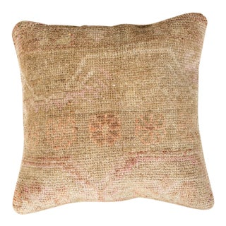 Vintage Luxury Wool Beige Sofa Pillow For Sale