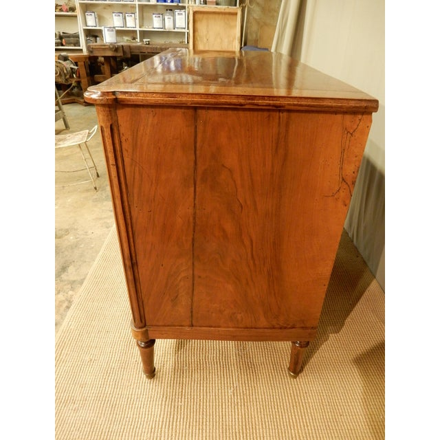 Louis XVI 19th C. French Louis XVI Style Walnut Commode For Sale - Image 3 of 11