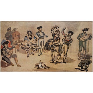 1959 American Classical Lithograph Manet Spanish Dancers