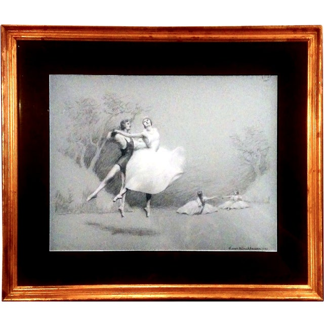 Charcoal Ballet Sketch by A. Von Munchhausen - Image 1 of 10