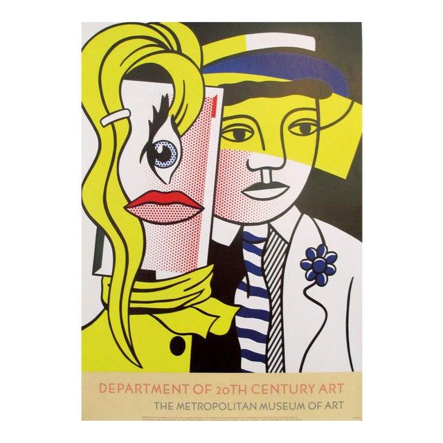 1986 Original Roy Lichtenstein Poster, Department of 21st Century Art, Metropolitan Museum For Sale