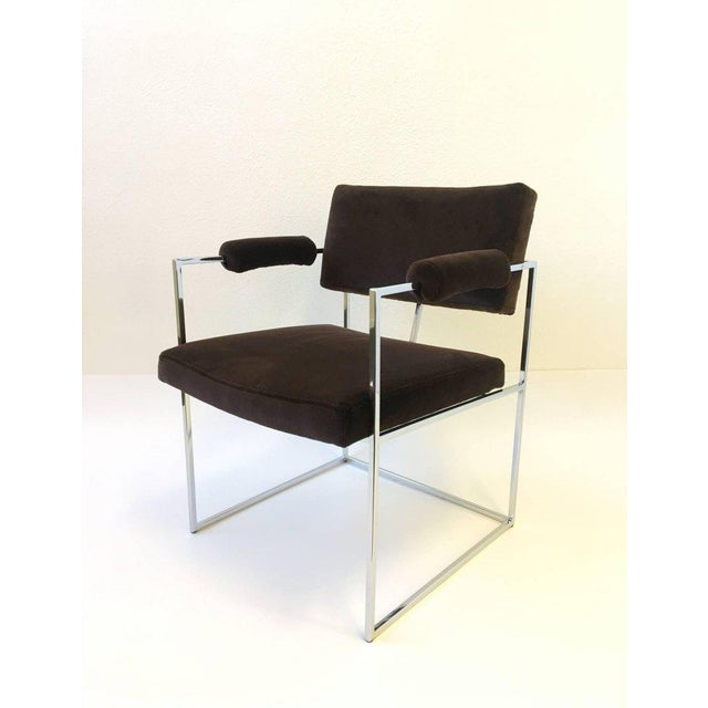 Set of Six Chrome Armchairs by Milo Baughman for Thayer Coggin For Sale In Palm Springs - Image 6 of 11