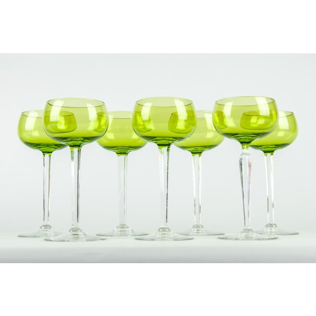 Vintage French Crystal Barware Set 7 Pieces For Sale - Image 4 of 5