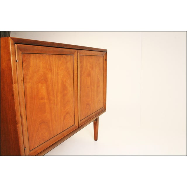 Mid-Century Modern Drexel Wood Record Cabinet - Image 8 of 11