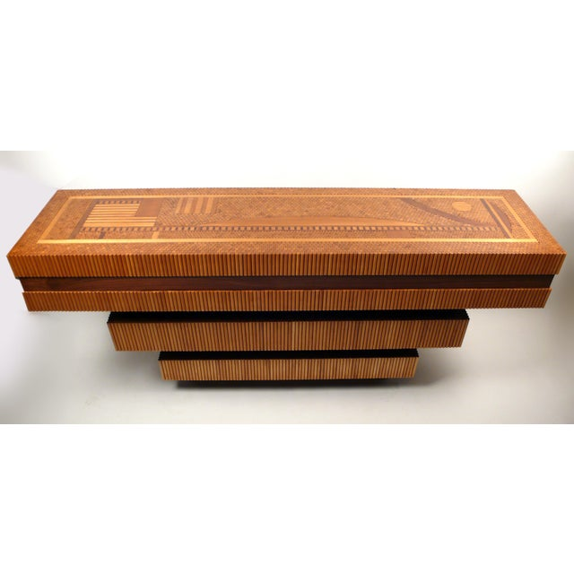 Hand Crafted Dowel Console Table