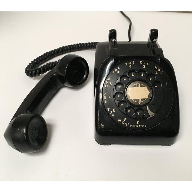 Vintage Leich Black Bakelite Dial Telephone - Image 3 of 9