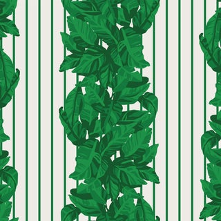 House of Harris Llewellyn Wallpaper, 30 Yards, Green For Sale