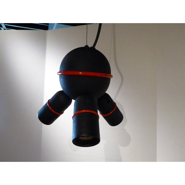 Red Roger Tallon for LIFA, French 70s Suspension Mod Op Pop Pendant For Sale - Image 8 of 10