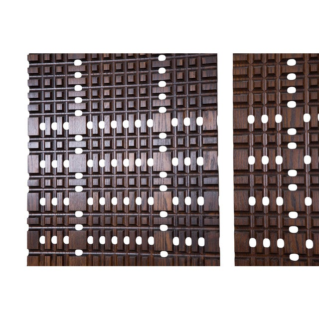 1960s Walnut Architectural Panels For Sale - Image 5 of 6