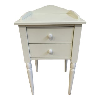 Pottery Barn Two Drawer Side Table For Sale